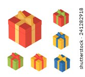 boxes for gifts | Shutterstock .eps vector #241282918