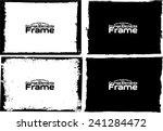 grunge frame set texture  ... | Shutterstock .eps vector #241284472
