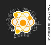 drawing business formulas  atom | Shutterstock .eps vector #241297972
