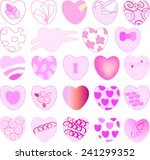 beautiful shape of hearts with... | Shutterstock .eps vector #241299352