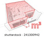 perspective cut away diagram of ... | Shutterstock .eps vector #241300942