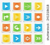 colorful square arrow sticker... | Shutterstock .eps vector #241318618