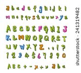 alphabet and numbers   hand... | Shutterstock .eps vector #241319482