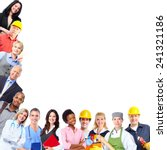 group of workers people.... | Shutterstock . vector #241321186