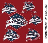 set of vintage sports all star... | Shutterstock .eps vector #241323802