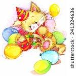 funny kitten. decor for kid... | Shutterstock . vector #241324636