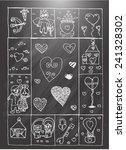 valentine  sketch | Shutterstock .eps vector #241328302
