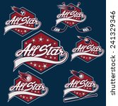 set of vintage sports all star... | Shutterstock .eps vector #241329346