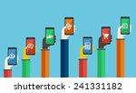 smartphones in hands. mobile...