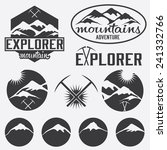 set of vintage labels mountain... | Shutterstock .eps vector #241332766