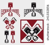 biker theme labels with pistons ... | Shutterstock .eps vector #241332856