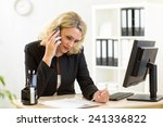 middle aged businesswoman... | Shutterstock . vector #241336822