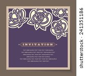 beautiful vintage invitation... | Shutterstock .eps vector #241351186