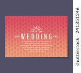 beautiful vintage invitation... | Shutterstock .eps vector #241351246