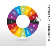 color wheel luck with the... | Shutterstock .eps vector #241356262