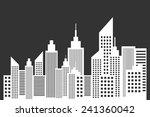 modern city skyline with... | Shutterstock .eps vector #241360042