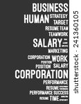 business and career word cloud... | Shutterstock .eps vector #241360105