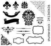 ornament set of black vector... | Shutterstock .eps vector #241360636
