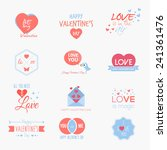 valentine s day set   labels ... | Shutterstock .eps vector #241361476
