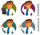 funny cartoon businessman in... | Shutterstock .eps vector #241363852