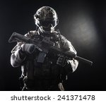 special forces soldier with... | Shutterstock . vector #241371478