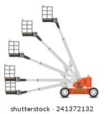 illustration of boom lift with... | Shutterstock .eps vector #241372132