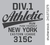 athletic new york typography  t ... | Shutterstock .eps vector #241372375