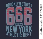 athletic america typography  t... | Shutterstock .eps vector #241372378