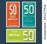 anniversary background  50 years | Shutterstock .eps vector #241377916