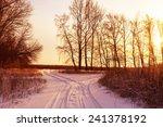 winter road forest field... | Shutterstock . vector #241378192
