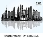 asia skyline detailed... | Shutterstock .eps vector #241382866