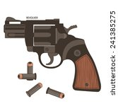 gun revolver with bullet and...   Shutterstock .eps vector #241385275