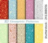 set of ten geometric... | Shutterstock .eps vector #241388056