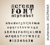 retro font. screen texture type ... | Shutterstock .eps vector #241396465