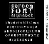 retro font. screen texture type ... | Shutterstock .eps vector #241396468