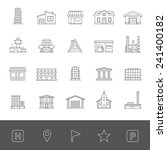 buildings icons | Shutterstock .eps vector #241400182