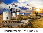 windmills of don quixote.... | Shutterstock . vector #241405942