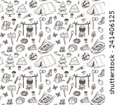 hand drawn seamless pattern ... | Shutterstock .eps vector #241406125