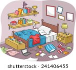 illustration of a disorganized... | Shutterstock .eps vector #241406455