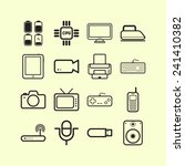 set of simple flat icons with... | Shutterstock .eps vector #241410382