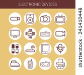 set of simple flat icons with... | Shutterstock .eps vector #241410448