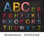 colourful abstract shadow... | Shutterstock .eps vector #241414162