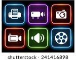 media and digital technology on ... | Shutterstock .eps vector #241416898