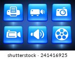 media and cloud download on... | Shutterstock .eps vector #241416925