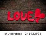 valentine's day card | Shutterstock . vector #241423936