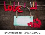 valentine's day card   Shutterstock . vector #241423972