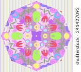 circular of floral motif with... | Shutterstock .eps vector #241427092