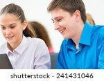 portrait of students in the... | Shutterstock . vector #241431046
