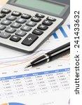 sales report analysis with pen  ... | Shutterstock . vector #241433632