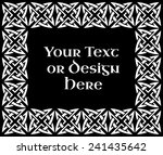 a black and white ornate... | Shutterstock .eps vector #241435642